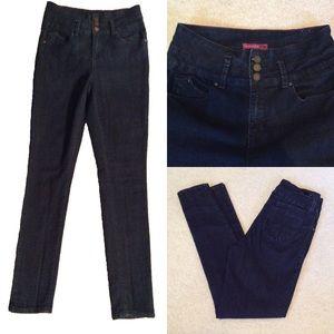 YMI WannaBettaButt? high waisted dark skinny jeans